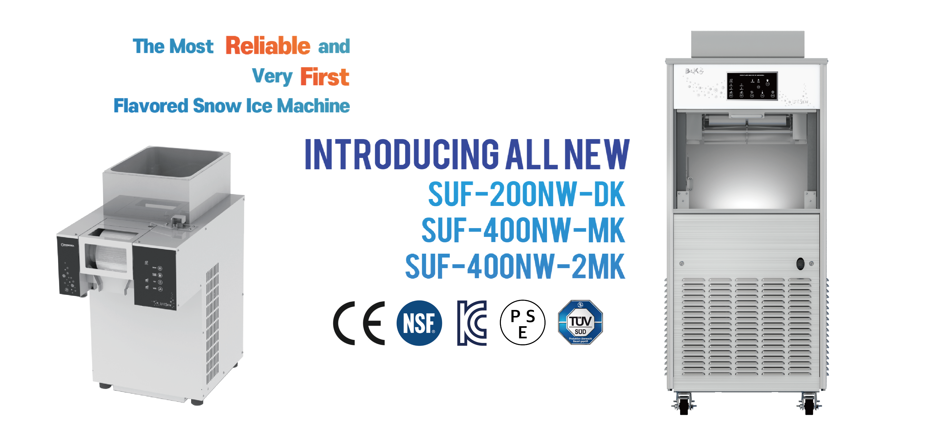 snow ice machine, bingsu machine / The most reliable and very first flavored snow ice machine